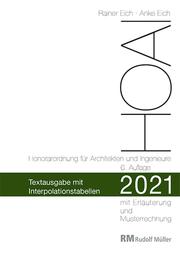 HOAI 2021 - Textausgabe mit Interpolationstabellen - Cover