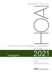 HOAI 2021 - Textausgabe Honorarordnung für Architekten und Ingenieure - Cover