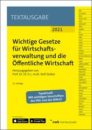 Wichtige Gesetze für Wirtschaftsverwaltung und die Öffentliche Wirtschaft - Cover