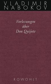 Vorlesungen über Don Quijote - Cover