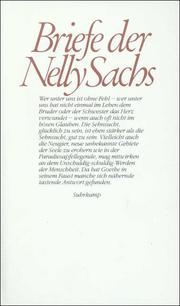 Briefe der Nelly Sachs