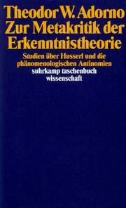 Zur Metakritik der Erkenntnistheorie