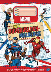MARVEL Mein Superhelden-Malblock - Bilder zum Ausmalen und Heraustrennen