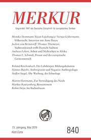 MERKUR Gegründet 1947 als Deutsche Zeitschrift für europäisches Denken - 2019-05