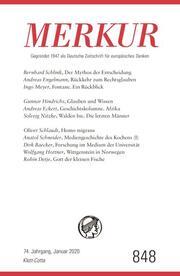 MERKUR Gegründet 1947 als Deutsche Zeitschrift für europäisches Denken - 2020-01