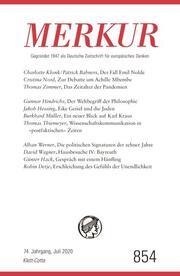 MERKUR Gegründet 1947 als Deutsche Zeitschrift für europäisches Denken - 2020-07