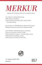 MERKUR Deutsche Zeitschrift für europäisches Denken 857