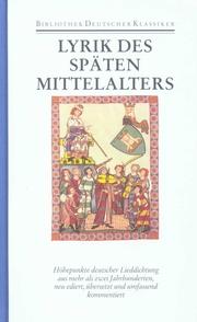 Lyrik des späten Mittelalters