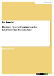Business Process Management for Environmental Sustainability - Cover