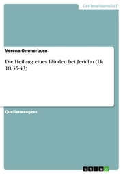 Die Heilung eines Blinden bei Jericho (Lk 18,35-43) - Cover