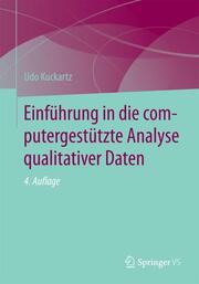 Einführung in die computergestützte Analyse qualitativer Daten - Cover