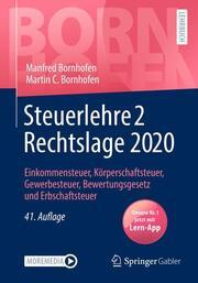 Steuerlehre 2 Rechtslage 2020 - Cover