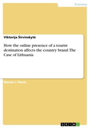 How the online presence of a tourist destination affects the country brand. The Case of Lithuania - Cover