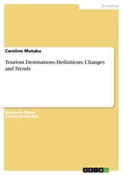 Tourism Destinations.Definitions, Changes and Trends - Cover