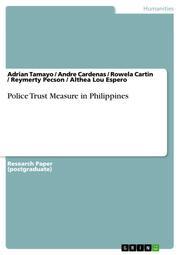 Police Trust Measure in Philippines
