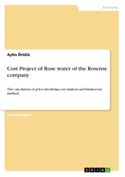 Cost Project of Rose water of the Rosense company