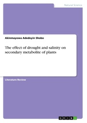 The effect of drought and salinity on secondary metabolite of plants