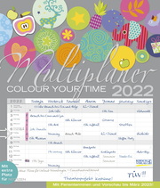 Multiplaner - Colour your time 2022 - Cover