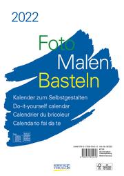 Foto-Malen-Basteln Bastelkalender A4 weiß 2022 - Cover