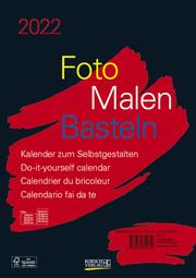 Foto-Malen-Basteln Bastelkalender A4 schwarz 2022 - Cover