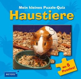 Mein kleines Puzzle-Quiz: Haustiere