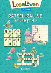 Leselöwen Rätsel-Rallye für Leseprofis - 2. Klasse (türkis) - Cover