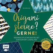 Origamisterne? Gerne! - Gold Edition - Weihnachtliches Bastelset zum Sofort-Losfalten