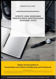 Städte und Gemeinde Verzeichnis Deutschland 2020