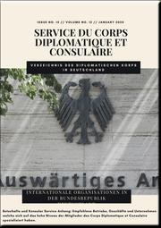 Service du Corps Diplomatique et Consulaire 2020
