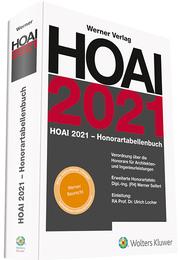 HOAI 2021 Honorartabellenbuch - Cover