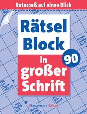 Rätselblock in großer Schrift 90 - Cover
