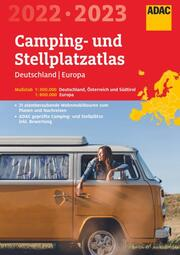 ADAC Camping- und StellplatzAtlas 2022/23 Deutschland 1:300 000, Europa 1:800 000 - Cover