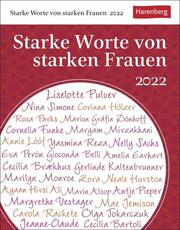 Starke Worte von starken Frauen Kalender 2022 - Cover