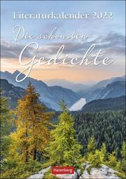 Literaturkalender Die schönsten Gedichte 2022 - Cover
