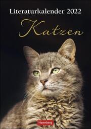Literaturkalender Katzen 2022 - Cover