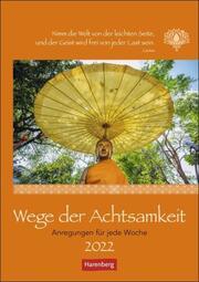 Wege der Achtsamkeit Kalender 2022 - Cover