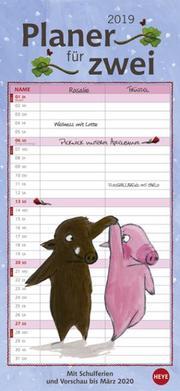 Rosalie & Trüffel Planer für zwei - Kalender 2019