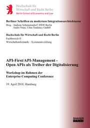 API-First/API-Management - Open APIs als Treiber der Digitalisierung