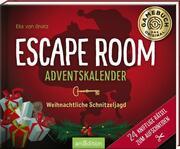 Escape Room Adventskalender. Weihnachtliche Schnitzeljagd. 24 knifflige Rätsel zum Aufschneiden - Cover