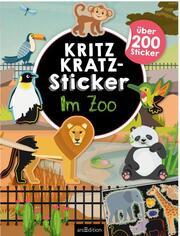 Kritzkratz-Sticker Im Zoo