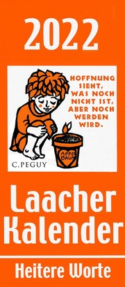 Laacher Kalender Heitere Worte 2022 - Cover