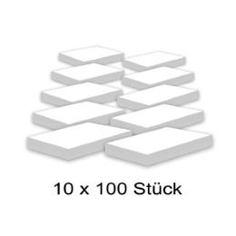 Karteikarten 500 St/ück A5 wei/ß blanko