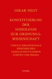 Werkausgabe Bd.1 / Konstituierung der Soziologie als Ordnungswissenschaft