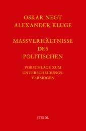 Werkausgabe Bd.8 / Maßverhältnisse des Politischen