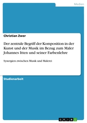 Der zentrale Begriff der Komposition in der Kunst und der Musik im Bezug zum Maler Johannes Itten und seiner Farbenlehre - Cover