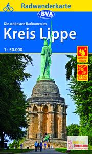 Radwanderkarte BVA Radwandern im Kreis Lippe 1:50.000, reiß- und wetterfest, GPS-Tracks Download