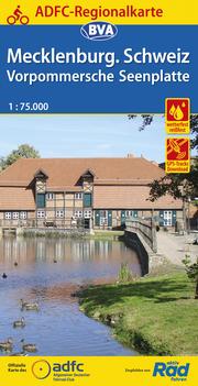 ADFC-Regionalkarte Mecklenburgische Schweiz Vorpommersche Flusslandschaft, 1:75.000