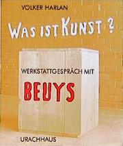 Was ist Kunst? Werkstattgespräch mit Beuys - Cover