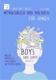 Vicky Bo's tolles Mitmachbuch und Malbuch - Jungen - Cover