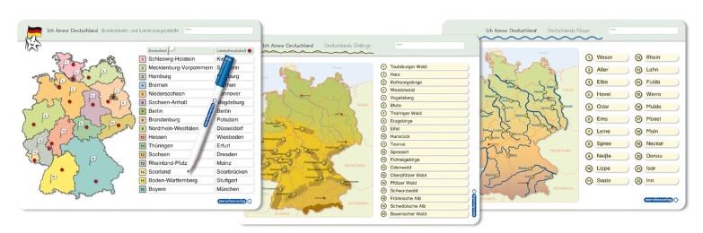 Ich kenne Deutschland - 1. Bundesländer & Landeshauptstädte, 2. Flüsse, 3. Gebirge im Set - Cover